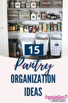 15 of the best tips and tricks to get an organized pantry. If you are looking for ideas on how to organize your pantry then check these organization ideas out. #pantryideas #pantryorganization #organizedhome #organizationhacks #kitchenorganization #clutterfree Freezer Organization, Small Space Organization, Kitchen Cabinet Organization, Home Organization Hacks, Organizing Your Home, Organization Ideas, Mason Jar Storage, Lid Organizer, Organized Pantry