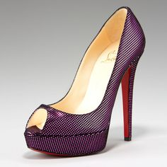 Christian Louboutin Suede Metallic-Square Pump