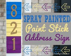 DIY Home Ideas | Make a colorful address sign from paint sticks!