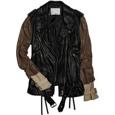 3.1 Phillip Lim Waxed-leather biker jacket