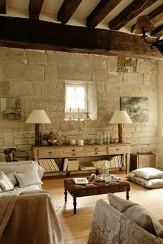 Le Mur En Pierre Apparente En Photos Home Decor Pinterest - Mur interieur en pierre apparente