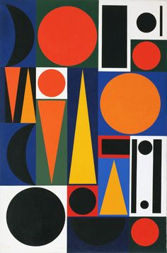 "Auguste Herbin. Composition on the Word ""Vie,"" 2. 1950. Oil on canvas. 57 1/2 x 38 1/4"" (145.8 x 97.1 cm). The Sidney and Harriet Janis Collection. 606.1967. © 2016 Artists Rights Society (ARS), New York / ADAGP, Paris. Painting and Sculpture"
