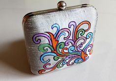 Kerala Mural Painted Grey Box Clutch – Desically Ethnic