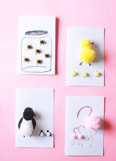 Mini pom pom cards