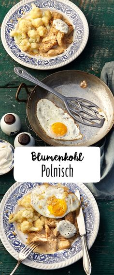 "Cauliflower ""polish"" with sliced and fried egg Mediterranean Breakfast, Breakfast Wraps, Cauliflower Recipes, Superfood, Keto, Fries, Roast, Good Food, Eggs"