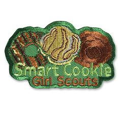 SMART COOKIE TRIO SEW-ON PATCH Cool Patches, Sew On Patches, Girl Scout Fun Patches, Smart Cookie, Cookie Time, Girl Scout Cookies, Fun Cookies, Girl Scouts, Coin Purse