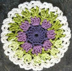 251 Lavender & Spearmint Dishcloth – Maggie Weldon Maggies Crochet  ☀CQ #crochet #crafts #DIY.  Thank you for sharing! ¯\_(ツ)_/¯