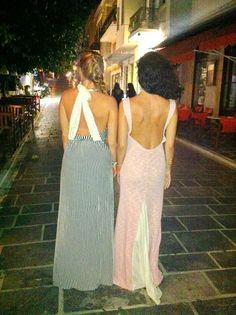 Madame Shou Shou Delfini and Astakos dress!  #madameshoushou #madame shou shou #dress #night #nightout #girls #fashion #style #retro #vintage #stripes #pink #lace #openback