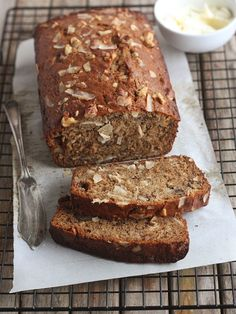 Coconut Banana Bread with Walnuts