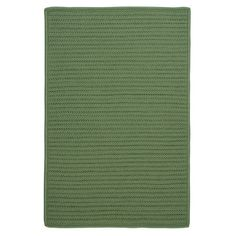 Charlton Home Gilmour Moss Green Solid Indoor/Outdoor Area Rug Rug Size: Runner 2' x 8'