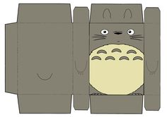 Totoro box gift wrapping printable - cereal box