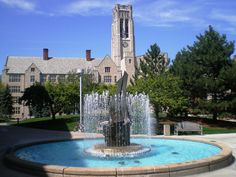 Toledo Edison Memorial Fountain at the University of Toledo (Ohio)