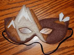 Earth Skylander  Earth Fairy Felt Mask or by OurCozyCreations, $15.00