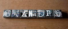 Personalized Photo Blocks set of 15 Letter by WasteNotRecycledArt