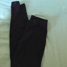 Black Cotton Leggings 95% cotton 5% spandex black leggings from xhilaration. Super comfortable. Stretchy waist. Xhilaration Pants Leggings