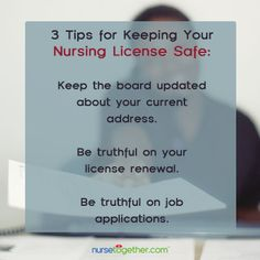 Keeping your #nursing license safe is something that wasn't taught in school.