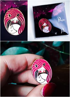 Pixie Pin by Nesting Spirits, buy on nestingspirits.tictail.com Spirited Art, Pin Art, Pixie, Enamel, Jewels, Drawings, Illustration, Artwork, Cards