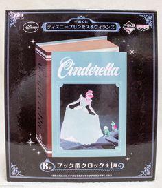 Disney Princess Cinderella Book type Alarm Clock Banpresto JAPAN ANIME