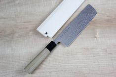 Sukenari Gingami No.3 Series Nickel Damascus Nakiri Knife