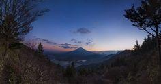 """Photo """"Mt.Fuji-4photosPanorama"""" by motohisashimazu"""