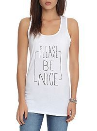 HOTTOPIC.COM - Please Be Nice Girls Tank Top