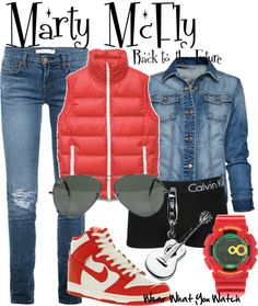 Inspired by Michael J Fox as Marty McFly in the Back to the Future trilogy. Marty Mcfly, Nerd Fashion, Fashion Advice, Disney Fashion, Halloween Party Costumes, Halloween Ideas, Halloween Stuff, Costume Ideas, Disney Bound Outfits