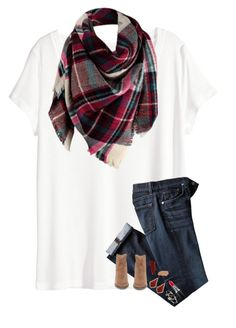 """""""Blanket Scarf!!!"""" by kat-attack ❤ liked on Polyvore featuring H&M, Steve Madden, Kendra Scott, NARS Cosmetics, Alex and Ani, MAC Cosmetics and Jane Iredale"""