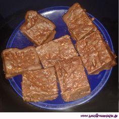 gefüllte Lebkuchen-Brownies - Brownie-Rezept unser Rezept für lecker mit Nutella gefüllte Lebkuchen-Brownies (wenn Männer backen ... nicht schön, aber lecker!) vegetarisch