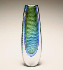 Kosta art glass vase designed by Vicke Lindstrand, c.1958-59.