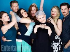 The awesome cast of Once Colin Jen Ginny Rebecca (Bex) Lana Josh Emilie being funny in the Entertainment Weekly press room at ComicCon 2015 in San Diego Ca Saturday 7-11-15