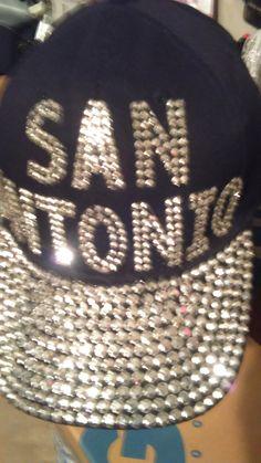 8086cb2ed39 New women San Antonio Black Rhinestone BaseBall Cap With Adustable back by  townoftheSpurs on Etsy