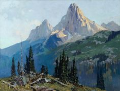 """Belmore Browne   """"Wardens of the Forty Mile; or Forty Mile Valley"""" (1930)    The Coeur d'Alene Art Auction"""