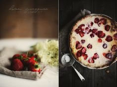 FLÄDERPAJ MED JORDGUBBAR (cake with strawberries)