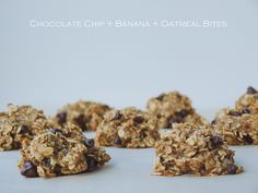 Banana, oat, chocolate chip cookies E