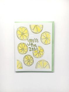 sweet Mother's Day card, lemon watercolor, kitchen humor, lemon notecard, card for chef, foodie paper goods, food pun, folded notecard