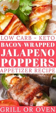 This bacon-wrapped Keto Jalapeno Poppers recipe with cream cheese is the ultimate keto appetizer recipe: air fried, baked or grilled. Appetizers For A Crowd, Low Carb Appetizers, Best Appetizers, Party Appetizers, Appetizer Recipes, Jalapeno Popper Recipes, Bacon Wrapped Jalapeno Poppers, Lunch Recipes, Low Carb Recipes