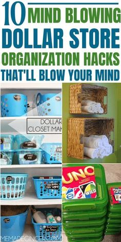 Thes 11 brilliant dollar store organizing hacks are absolutely amazing and the BEST to organize your home under a budget. These dollar store organization hacks are absolutely necessary if you want to do home organization on a budget. I'm so glad I found t Dollar Store Hacks, Astuces Dollar Store, Dollar Store Crafts, Dollar Stores, Thrift Stores, Dollar Dollar, Organisation Hacks, Organizing Hacks, Organizing Your Home