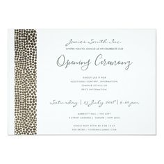 Most up-to-date No Cost Formal Invitation grand opening Strategies Your wedding invitation is the guests'first peek into your big day, so you intend to make it shine Typography Wedding Invitations, Elegant Invitations, Zazzle Invitations, Birthday Invitations, Invites, Invitation Card Design, Invitation Cards, Vow Examples, Grand Opening Invitations