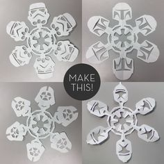 DIY star wars snow flakes :)