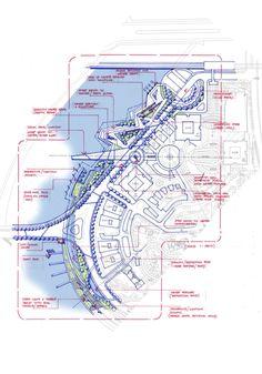 Idea sketch landscape plan: