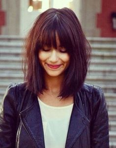 Frisuren mittellanges haar pony – Mittellange haare 11 Unique hairstyles medium length hair with pony trend Long Bob Haircuts, Long Bob Hairstyles, Hairstyles 2016, Trendy Hairstyles, Popular Hairstyles, Bang Haircuts, Perm Hairstyles, Wedding Hairstyles, College Hairstyles