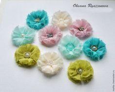 Делаем цветы из ткани для скрапбукинга - Ярмарка Мастеров - ручная работа, handmade