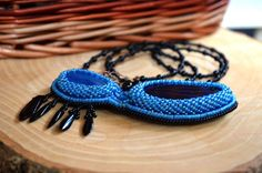 Beadwork Bead Embroidered Pendant Necklace Beaded Agate Necklace Seed Bead Long Necklace Trending Necklace Black Blue Beadwork Embroidery beadwork bead embroidered pendant necklace beaded agate seed bead necklace trending necklace fashion necklace long necklace beadwork embroidery black blue jewelry embroidered jewelry beaded cabochon Eastern Rinok 46.00 USD #goriani