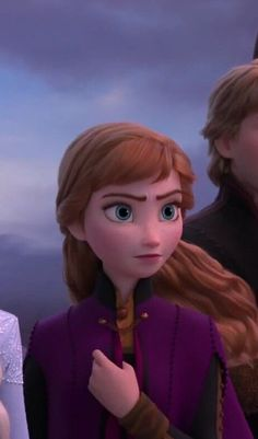 Princess Anna, Frozen Anna looks a bit more grow up but I'm sure she's still the quirky girl we've all come to love! Frozen Disney, Anna Disney, Disney Rapunzel, Cute Disney, Film Frozen, Disney Art, Disney Pixar, Disney And Dreamworks, Walt Disney