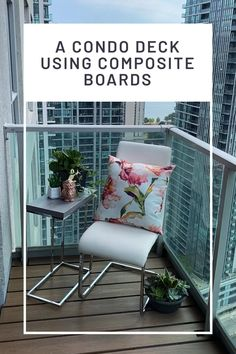 How to build a custom-fit platform deck for a confo balcony using MultyDeck recycled rubber bases for quick-install platform decks. Build an oasis in the sky! Condo Balcony, Apartment Balcony Decorating, Composite Board, Composite Decking, Pouring Concrete Slab, Platform Deck, Balcony Flooring, Space Place