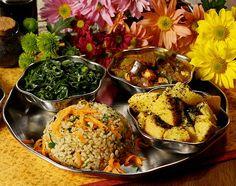 Refeições do restaurante Gopala Hari, ponto de referência de comida saudável e acessível