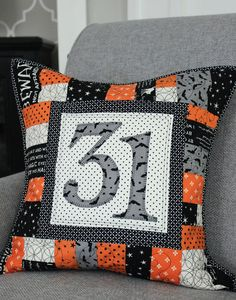 All Season Patchwork Quilted Pillow by EverydayCelebrations