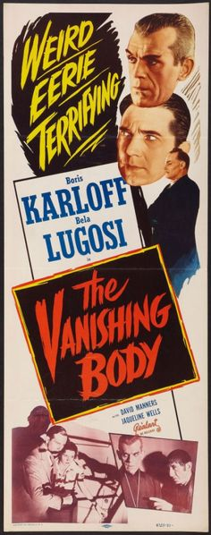 "1935's The Black Cat was re-released in 1953 as ""The Vanishing Body."""