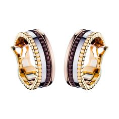 Quatre Black Diamond Hoop Earrings, a Maison Boucheron Jewelry creation. A Boucheron creation tells a Story, that of the Maison and your own.