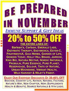 Holly Hill Health Foods November 2015 Extra Discounts.